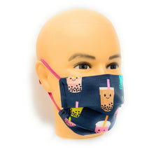 Load image into Gallery viewer, Boba Tea Cotton Face Mask | Locked Down Designs