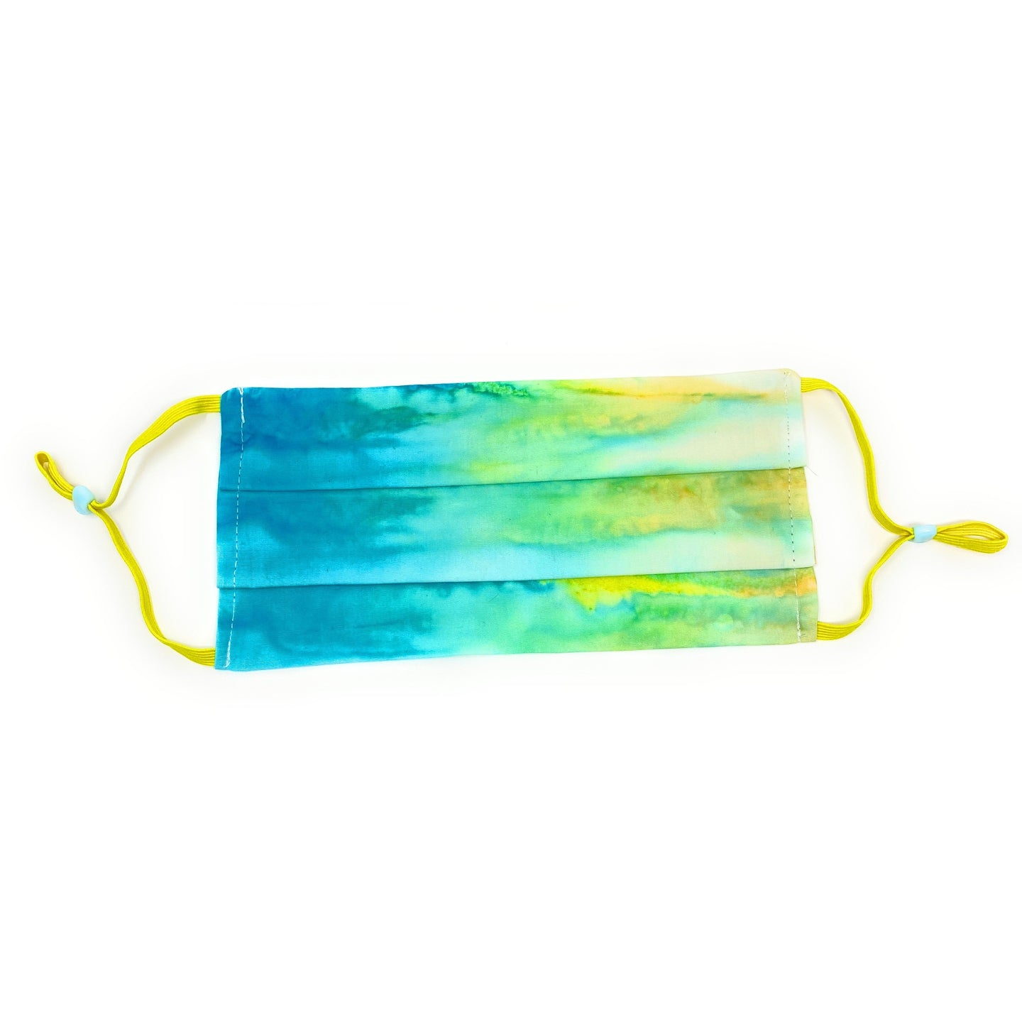 Yellow & Blue Tie Dye Batik Face Mask | Locked Down Designs