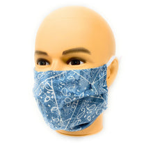 Load image into Gallery viewer, Light Blue Face Mask | Locked Down Designs