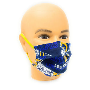 LA Rams Football Face Mask | Locked Down Designs  | In Stock