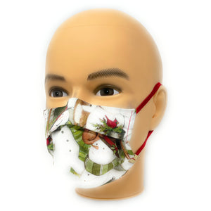 Winter Snow Man Face Mask | Locked Down Designs