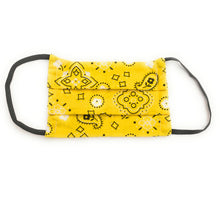 Load image into Gallery viewer, Yellow Bandana Face Mask | Locked Down Designs