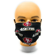 Load image into Gallery viewer, San Francisco 49ers double-layer, tight-knit cotton face mask