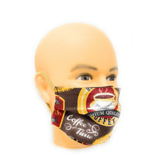 Load image into Gallery viewer, Coffee Time Barista Face Mask | Locked Down Designs