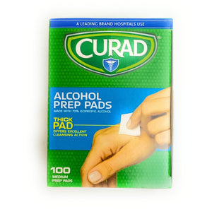 Curar Alcohol Wipes 100ct