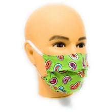 Load image into Gallery viewer, Green Paisley Face Mask | Locked Down Designs