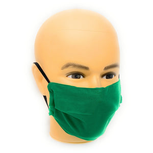 Solid Green Face Mask | Locked Down Designs