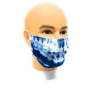 Blue and White Tie Dye Face Mask | Locked Down Designs