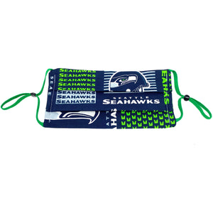Seattle Seahawks Football Face Mask | Locked Down Designs | In Stock