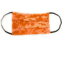 Load image into Gallery viewer, Orange Digital Camo Face Mask | Locked Down Designs