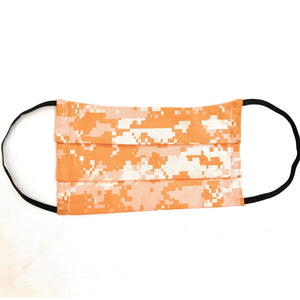Orange Digital Camo Face Mask | Locked Down Designs