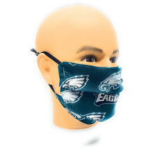 Load image into Gallery viewer, NFL Philadelphia Eagles Glitter Face Mask | Locked Down Designs