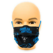Load image into Gallery viewer, Carolina Panthers Face Mask NFL | Locked Down Designs
