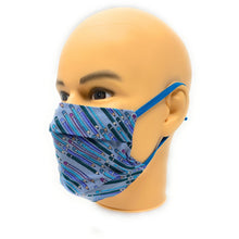 Load image into Gallery viewer, Blue Pencil Face Mask | Locked Down Designs | In-stock