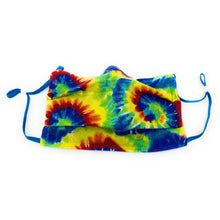 Load image into Gallery viewer, Tie Dye Hippie Swirl Face Mask | Locked Down Designs