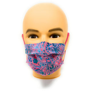 Pinky Blue Batik Face Mask | Locked Down Designs