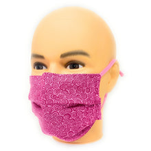 Load image into Gallery viewer, Pink Curly Q Breast Cancer Face Mask | Locked Down Designs