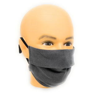 Grey Linen Face Mask | Locked Down Designs