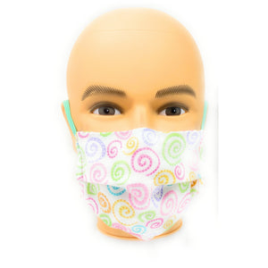 Pastel Curly Q Face Mask | Locked Down Designs