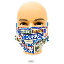 Load image into Gallery viewer, Support Our Troops Patriotic Face Mask | Locked Down Designs