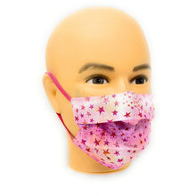 Load image into Gallery viewer, Pink Star Face Mask | Locked Down Designs