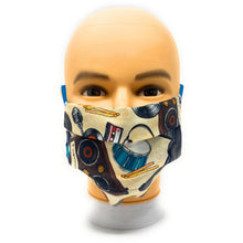 Load image into Gallery viewer, Retro Music Instruments Face Mask | Locked Down Designs