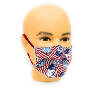 Main Street of America Route 66 Face Mask | Locked Down Designs