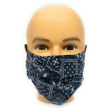 Load image into Gallery viewer, Black Bandana Face Mask | Locked Down Designs