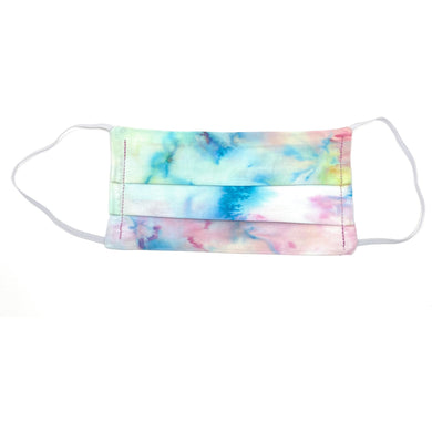White Tie Dye Face Mask | Locked Down Designs