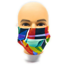 Load image into Gallery viewer, Vibrant Geometric Face Mask | Locked Down Designs