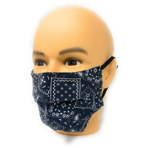 Black Bandana Face Mask | Locked Down Designs