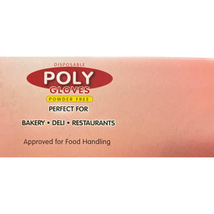Poly Gloves Powder Free 500ct