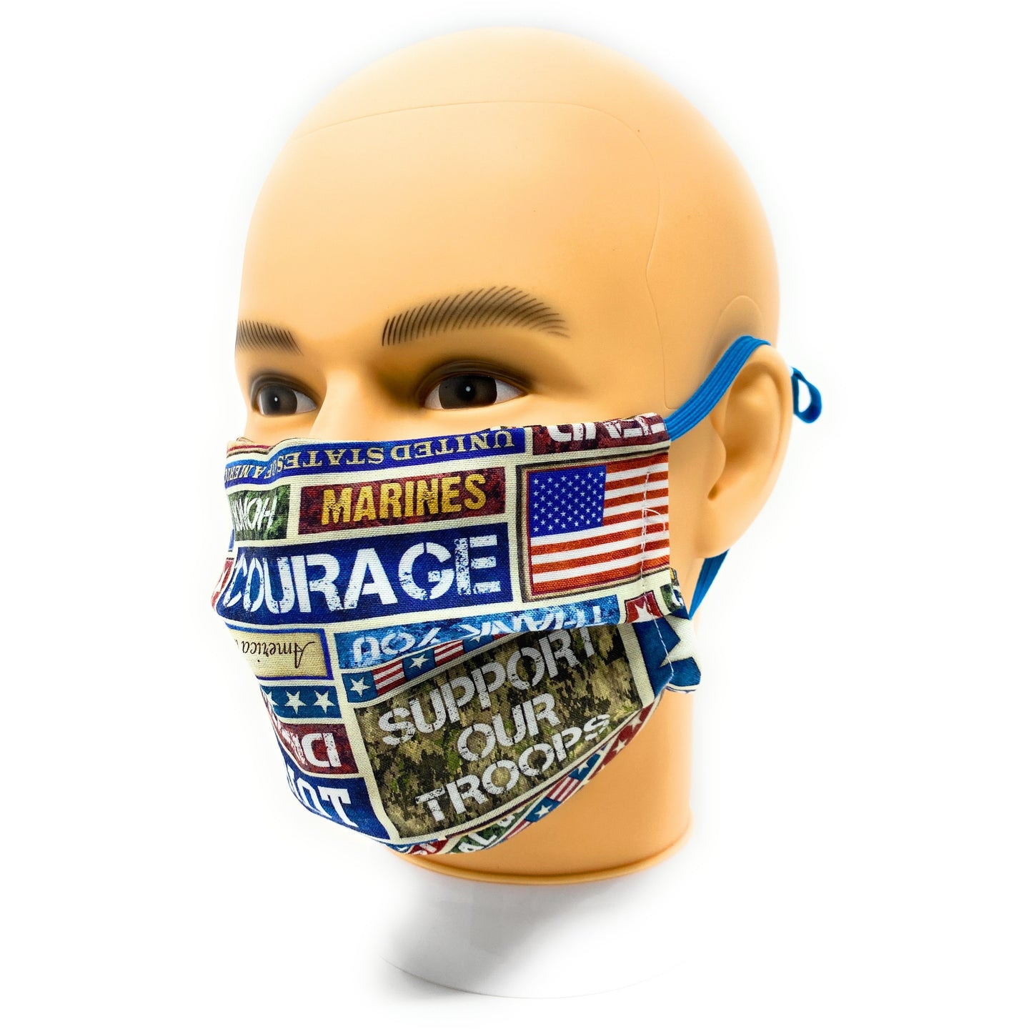 Support Our Troops Patriotic Face Mask | Locked Down Designs