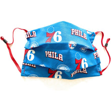 Load image into Gallery viewer, Philadelphia 76ers Retro Cotton Face Mask | Locked Down Designs