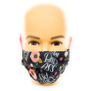Total Bad Ass Breast Cancer Awareness Mask | Locked Down Designs