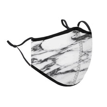 Load image into Gallery viewer, Top Trenz White Marble Face Mask | Locked Down Designs