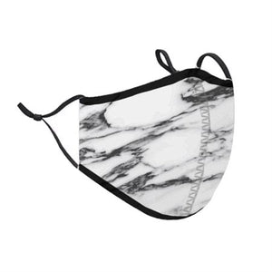 Top Trenz White Marble Face Mask | Locked Down Designs