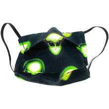 "Load image into Gallery viewer, Alien ""Area 51"" Cotton Face Mask 