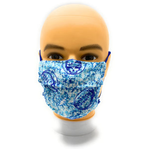 Grateful Dead Steal Your Face Cotton Face Mask, PM2.5 Filter Included | Locked Down Designs