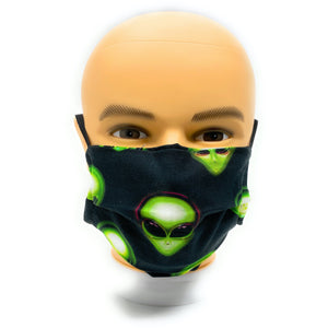 "Alien ""Area 51"" Cotton Face Mask 