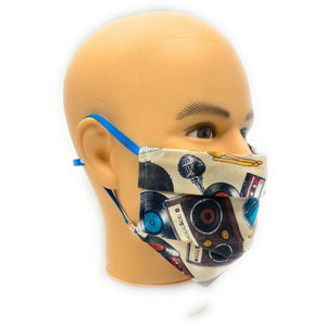 Retro Music Instruments Face Mask | Locked Down Designs