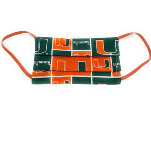 Miami Hurricanes Filter Face Mask