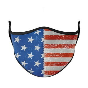 Top Trenz USA American Flag Face Mask - Locked Down Designs