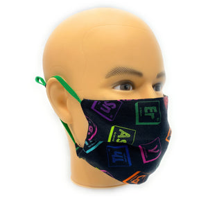 Elements of the Periodic Table Face Mask, Breaking Bad Face Cover