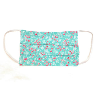 Blue Pink Floral Face Mask