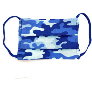 Blue Camouflage Face Mask | Locked Down Designs