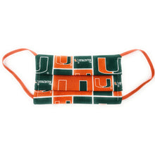 Load image into Gallery viewer, University of Miami Hurricanes 100% Cotton Face Mask
