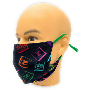Elements of the Periodic Table Face Mask, Breaking Bad Periodic Table Face Cover
