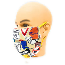 Load image into Gallery viewer, Route 66 Face Mask | Locked Down Designs
