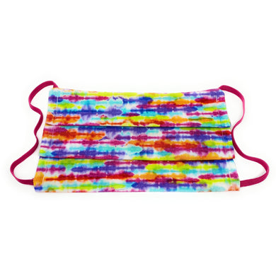 Rainbow Tie Dye Stripe Face Mask | Locked Down Designs